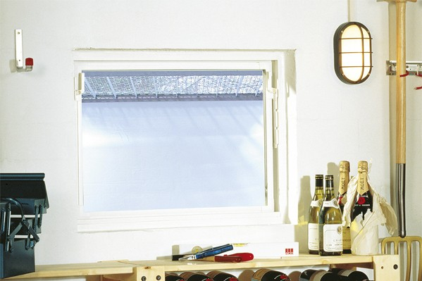 Ansicht eines Kippfensters im Keller