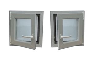Darstellung der Fenster-Drehrichtungen nach DIN 107