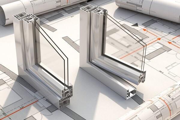 Entwicklungsmodell eines Kellerfensters im Querschnitt